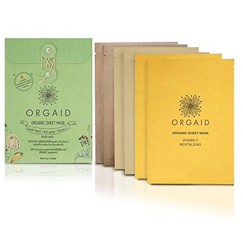 ORGAID Organic Sheet Mask | Made in USA (Assorted Multi-pack)