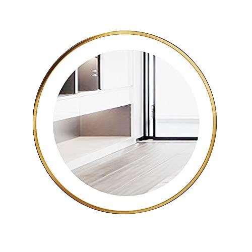 Modern Minimalistisk LED-lampa Runt Badrumsspegel Vägghängande Fåfänga Spegel Toalett Handfat Dekorativ Spegel Anti-Fog Badrumsspegel Med(Size:Diameter 70)