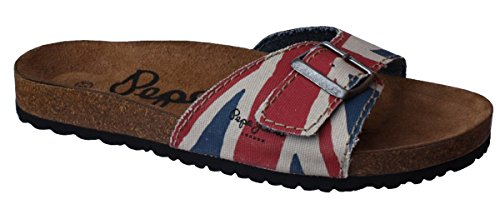Pepe Jeans, Mules pour Femme - multicolore - Rot, 42