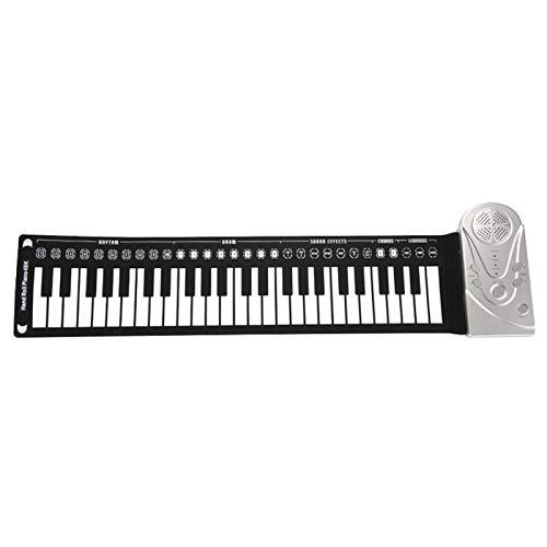 Tongdejing Piano roll-up de 49 teclas, teclado eléctrico plegable portátil teclado plegable flexible para principiantes y niños