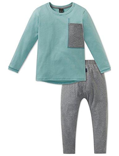 Schiesser Mädchen Anzug lang Zweiteiliger Schlafanzug, Grün (Mint 708), 92