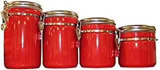Best anchor hocking 4 piece ceramic canister set red Reviews