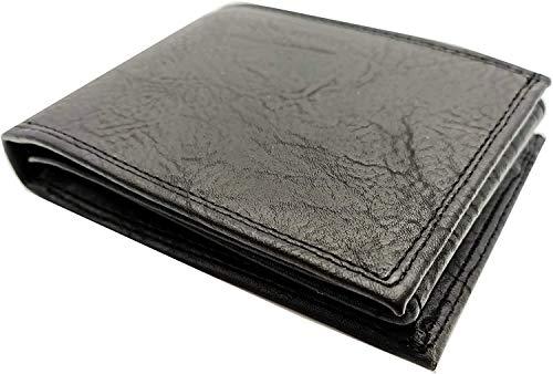 Calcantus - Cartera de hombre de piel sintética con cremallera para tarjetas de crédito, monedero, billetera, de color blanco, Negro (Negro) - CL-0001