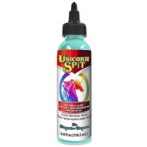 Unicorn SPiT 5770006 Gel Stain and Glaze, Zia Teal 4.0 FL OZ Bottle