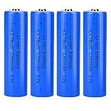 18650 Batteria 3.7v Ricaricabile agli Ioni di Litio, 2200mAh Grande...
