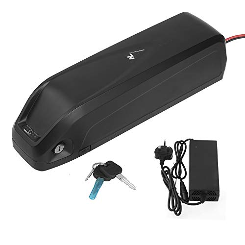EBike Battery Lithium Lockable Rechargeable 48V 10Ah/13Ah Battery for Electric Bike with Charger UK and USB Port (10Ah)