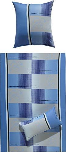 Erwin Müller Bettwäsche Single-Jersey blau Größe 135x200 cm (40x80 cm)