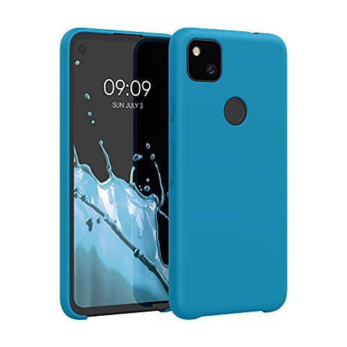kwmobile Custodia Compatibile con Google Pixel 4a - Cover in Silicone TPU - Back Case per Smartphone - Protezione Gommata Blu Indaco