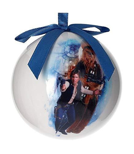 Star Wars HAN e Chewbacca–Palla di Natale, bianco