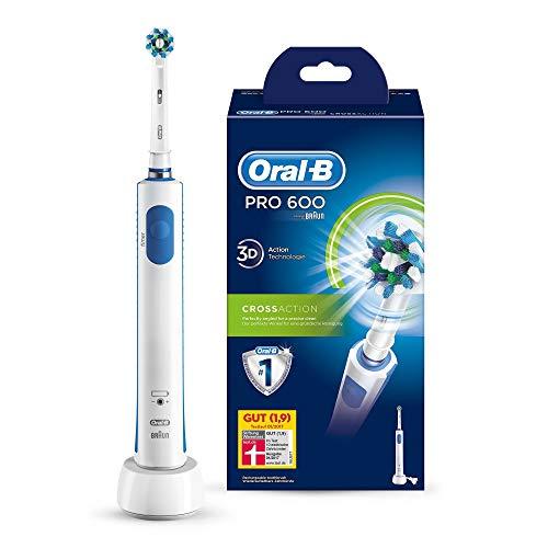 Oral-B PRO 600 CrossAction - Cepillo de dientes eléctrico recargable, con Tecnología Braun