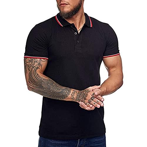 SSBZYES Camisetas para Hombres Camisetas Polo De Verano para Hombres Camisetas De Manga Corta para Tiempo Camisas De Manga Corta con Puños En El Cuello Cuello con Botones a Juego Camisas Polo