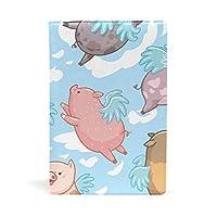 ブックカバー 文庫 a5 皮革 レザー 豚のユニコーン天使 文庫本カバー ファイル 資料 収納入れ オフィス用品 読書 雑貨 プレゼント