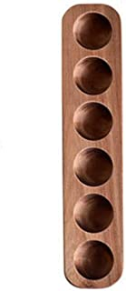 Kehuashina Wooden Egg Holder Tray - Egg Display Stand -Egg Crate Carrier Storage Containers Rack - 6 -Cup - for Refrigerat...
