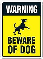 警告男性女性のための犬のヴィンテージメタルティンサインマン洞窟、バー、トイレ、レストラン、カフェパブ、12x8インチの壁の装飾に注意してください