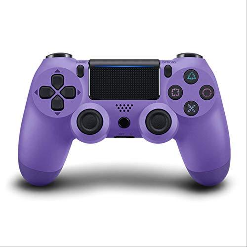 Leisont - Para Sony PS4 Controlador Bluetooth vibración Gamepad Consola de Juegos 4 Joystick inalámbrico Detroit para Consola de Juegos PS4 Federación Rusa. Púrpura eléctrica