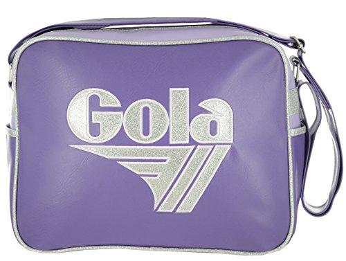 Gola Classics, Redford Glitter, Borsa Unisex Adulto CUB661, silver/lilac/purple