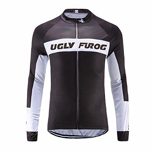 Uglyfrog Ciclismo Hombres Diseño Clasico Manga Larga Ropa Invierno with Fleece Maillots/Chaqueta...