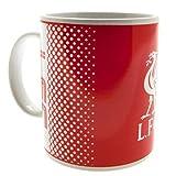 Liverpool FC diseño de Fundido Blanco Rojo Regalo de fútbol Oficial Taza en Caja