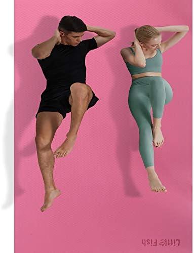 Oversized Exercise Mats for Men Women GYM Training Fitness 72 X48 X6mm Large Non Slip TPE Home product image
