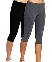 92%Cotton+8%Spandex Jersey High Waist - Women's workout pants are designed with high-waist, tummy control wide waistband contours your curves and streamlines your shape. Non see-through, moisture-wicking, breathable and stretchy fabric provides compl...