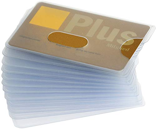 valonic Credit Card Sleeves | 12-Pack | Sturdy Transparent Plastic Sleeves | Protector Sleeves