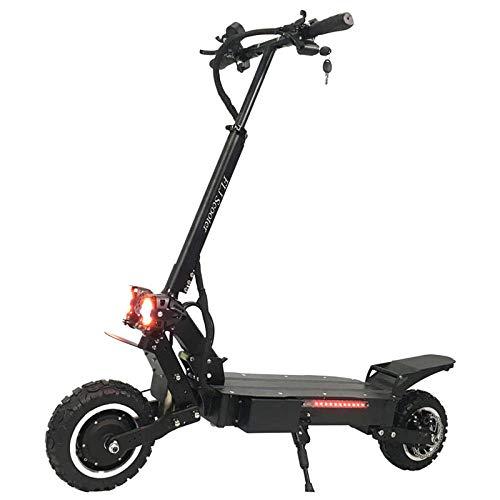 CZPF Elektrische step, krachtig, met dubbele motor met wielen, terreinbanden, 2 grote lichten voor scooters en scooters