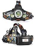 [page_title]-Profi Stirnlampe I LED Cree Kopflampe I Taschenlampe I Lampe 8000Lm inkl.2x Power Akku