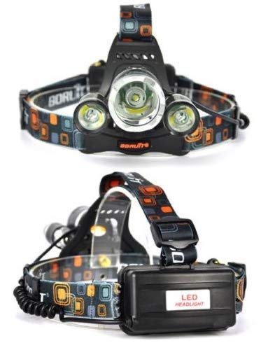 Profi Stirnlampe I LED Cree Kopflampe I Taschenlampe I Lampe 8000Lm inkl.2x Power Akku