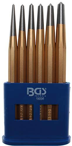 BGS 1656 | Körner-Satz | 6-tlg. | Ø 3 - 4 - 5 - 6 - 7 - 8 mm | CV-Stahl | Splintentreiber | Durchtreiber