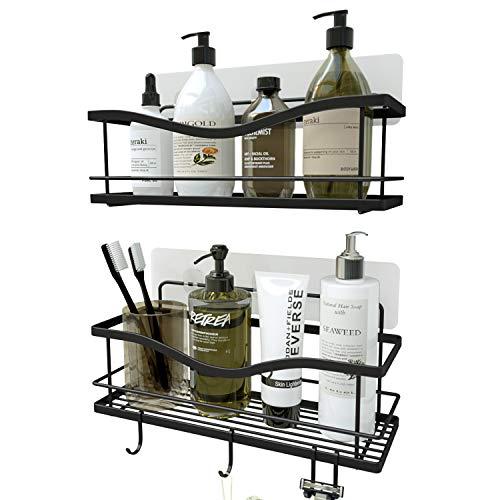 KINCMAX Shower Caddy Bathroom Shelf, No Drilling Traceless Adhesive Bathroom Storage Organizer, SUS304 Rustproof Food Storage Basket, 2-in-1 Kitchen...