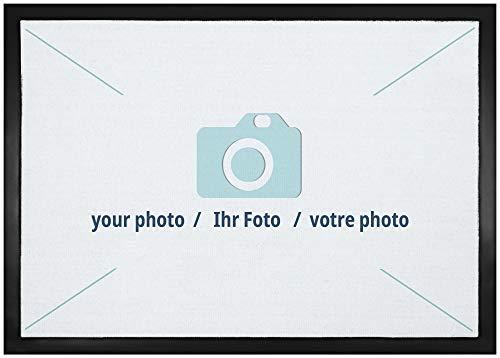 1art1 Personalisierte Fußmatte mit Namen und eigenem Foto | Fussmatte selber gestalten für Innenbereich und Außenbereich | Personalisiertes Geschenk 50 x 70 cm