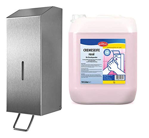 Temca, Becker-Chemie Seifenspender Edelstahl Racon X 125 Plus Eilfix Cremeseife Rose (5 Liter)