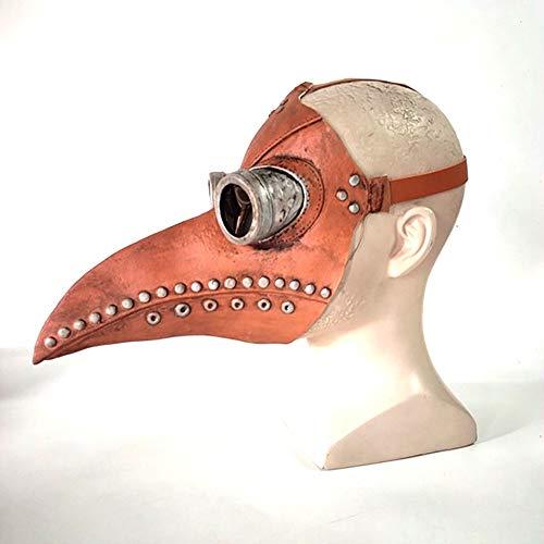 Xingxings Masker, dierenartsen, vogel, neus, lange snor, steampunk-masker voor Halloween, cosplay, carnaval, kostuum voor volwassenen