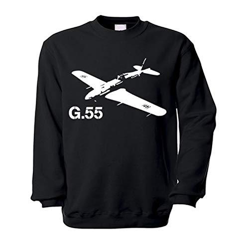 Copytec G55Avión Centauro Italiano Caza Avión WK Italia Aire Arma Italia–Sudadera # 13768