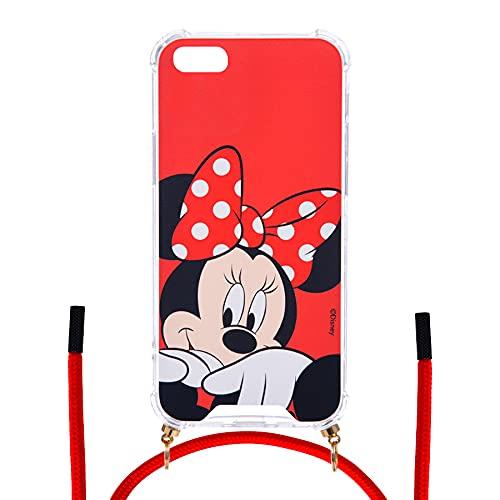 Custodia per iPhone 6-6S Ufficiale Disney Minnie Sfondo rosso per proteggere il tuo cellulare Cover per Apple in silicone flessibile con licenza ufficiale Disney.
