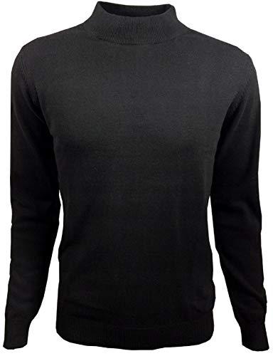 ANAGRE Herren Sweatshirt Pullover Classic Rollkragen für Männer Stretch Pulli | M-3XL (L, SCHWARZ)