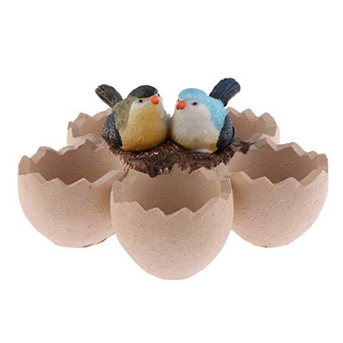 Tubayia Pot à œufs créatif pour décoration de Maison, Bureau, Jardin 1 Paar Vögel
