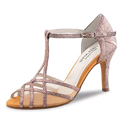 Anna Kern Damen Tanzschuhe 870-75 - Farbe: Pink - Größe: UK 4,5