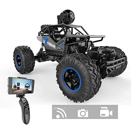 NINI Spielzeugauto,Buggy Auto 1/16 Maßstab 2.4GHz Mit WiFi-Kamera Funkfernsteuerung Alles Gelände für Kinder Elektro Fahrzeug