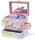 Jewelkeeper Musical Jewelry Box 3 Drawers, Rainbow Unicorn Design, The Unicorn Tune