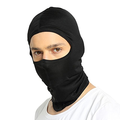 ALASKA BEAR - Natural Silk Balaclava Face Mask for Winter, Unisex Black