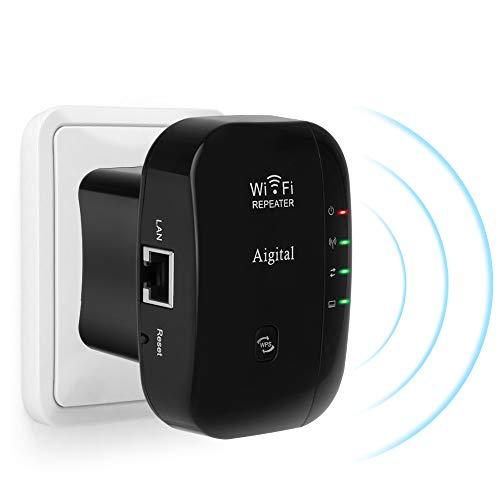 【2020最新版】Aigital 中継機 WiFi無線LAN中継器 WIFI 信号増幅器/リピーター/エクステンダー/ブースター ...