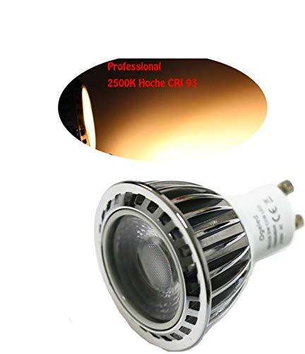 Ogeled CRI 95 GU5.3/Gu10 Spot LED Lampe Strahler 3W neue Vollspectrum Technik Pflanzenlampen Dimmbar A++ (Class 2500K Warmweis, 5x Gu10)