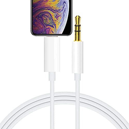 Cavo Aux per Phone 3.5mm Audio Cavo per Auto Compatibile con 8 7 6 5 XS 12 11 Pro MAX XR X Pad Pod per Auto Home Stereo Altoparlante Cuffie, Supporto per Tutte le Versioni lOS