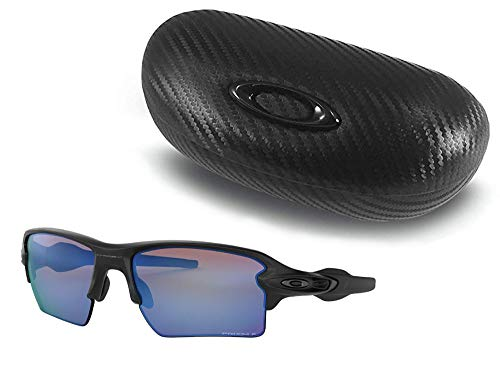 Oakley Prizm Deep H2O Polarized (Matte Black) with Oakley Carbonfiber Ellipse O Case Sunglasses