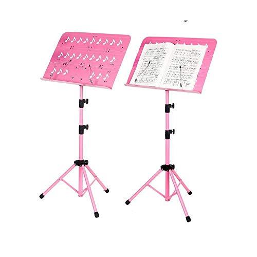 ZQYBH Muziek Stand, Spelen/oefenen Blad Muziek Plank, Opvouwbaar/Lifting, Sterk, stabiel en gemakkelijk te gebruiken roze