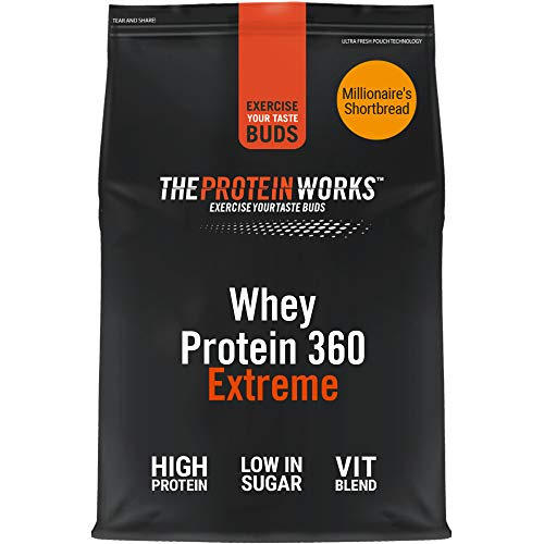 THE PROTEIN WORKS Whey Protein 360 Extreme Protein Powder | High Protein Shake | With Glutamine, Vitamins & Minerals | Protein Blend | Millionaire's Shortbread | 1.2 kg