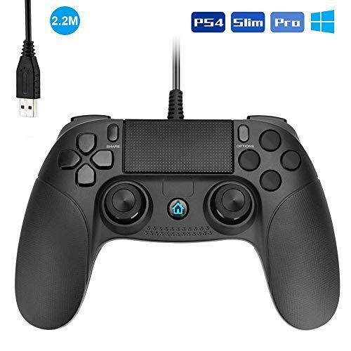 pequeño y compacto Controlador de gamepad USB Powcan, controlador de PC con joystick turbo dual con cable y …