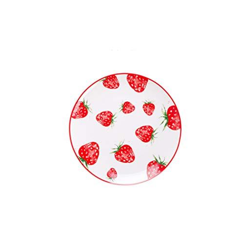 Platos llanos Conjunto de placa linda, placa, plato para el hogar, bistec creativo, placa occidental, plato de frutas, vajilla de cerámica Platos para servir de porcelana de cocina (Color : A)