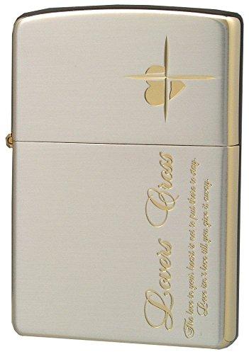 ZIPPO ジッポー オイルライター ラバーズクロス メッセージサイド シルバー × ピンクゴールド 63050298
